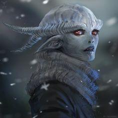 Winter Planet, Sandra Duchiewicz on ArtStation at https://www.artstation.com/artwork/aBw40