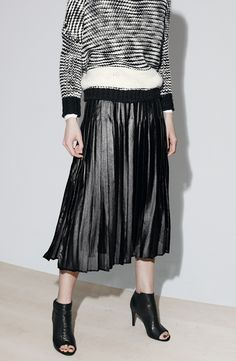 Trouvé Pleat Midi Skirt