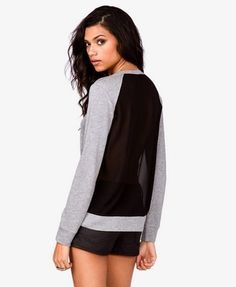 Chiffon Back Pullover | FOREVER21 - 2021574372