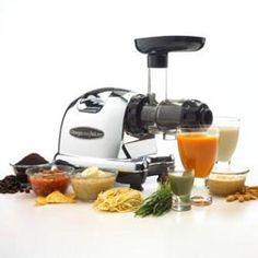 Omega J8006 Nutrition Center Commercial Masticating Juicer, Black and Chrome ($299.95 @ http://astore.amazon.com/firstworld-20/detail/B001L7OIVI)