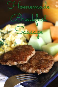 This Homemade Breakfast Sausage is gluten free, paleo, freezable, and OH so scrumptious! You will never miss the store bought version! {Brittany's Pantry}