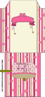 Chá de Panela - Kit Completo com molduras para convites, rótulos para guloseimas, lembrancinhas e imagens! - Fazendo a Minha Festa