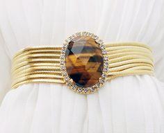 Best selling tiger's-eye bracelet from www.patbijoux.com