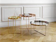 kolorystyka: połączenie srebra, złota i miedzi - doskonale komponuje się na neutralnym tle /// proste, minimalistyczne linie mebli