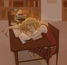 hidingbehindalegend: Liz tends to fall asleep in the library after hours of non stop studying. Cammie takes a pic of how adorable she looks before Bex carries her back to their dorm. Awwwwwww. She totally looks like an innocent girl and not the one who almost started WWlll. Gallagher girls fan art