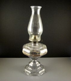 Antique Eagle Oil Lamp // LARGE // With Chimney // From Successionary