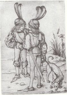 Meister des Amsterdamer Kabinetts a.k.a. Hausbuchmeister. 1470ger-80ger  Eines meiner Lieblingsbilder.
