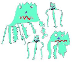 Image of Zios and Zepts drawn by Thomad Murray