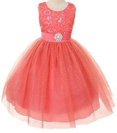 Floral Embroidered Sparkly Sequin Flower Girl Dress Pageant Bridesmaid Wedding Coral 2-14 B Corner http://www.amazon.com/dp/B00OI99R0I/ref=cm_sw_r_pi_dp_npzQvb0ZAYS40