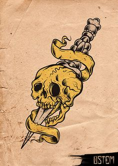OutCast - Old school Tattoo by Ostem , via Behance