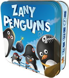 In Zany Penguins, you want to make sure that your tribe of penguins is the one that takes control of the Earth, so do what you can to take charge of regions such as the desert, jungle, and the North Pole.  In game terms, each region has a set of cards numbered 1-9. To set up, shuffle the deck, then deal each player a personal deck of 18 cards. Each player starts with two cards in hand.  On a turn, you draw two cards, pass one card each to your left- and right-hand neighbors, take the cards…