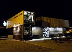 Cargotecture: 5 shipping container hot spots | Starbucks cafe made of recycled shipping containers #reuse