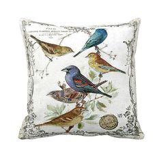 Pillow Cover Springtime Birds