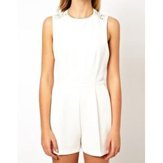 Lace Hollow Out Fashionable Scoop Collar Sleeveless Women's Jumpsuit, WHITE, S in Jumpsuits | DressLily.com