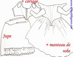 "Dresses with zones (or ""Front-zones"") 
