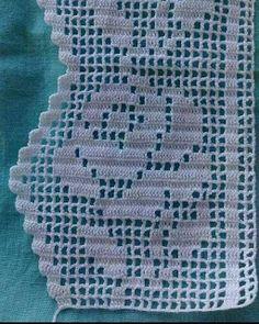 Sunshine Home Decor: Çeyizlik uç danteller # crochet crafts to sell diy Col Crochet, Crochet Lace Edging, Crochet Borders, Crochet Home, Filet Crochet, Crochet Crafts, Crochet Doilies, Crochet Stitches, Crochet Baby