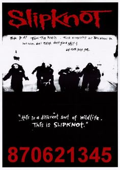 """An awesome Slipknot poster! Includes explicit lyrics to """"Surfacing"""" from their self-titled debut album. Published in 1999. Ships fast. 24x35 inches. Check out the rest of our great selection of Slipkn"""