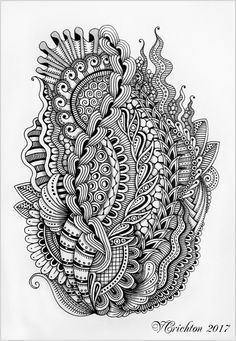 Doodle designs, stress coloring book, abstract line art, mushroom drawing, zentangle Doodle Art Drawing, Zentangle Drawings, Mandala Drawing, Doodles Zentangles, Zentangle Patterns, Mandala Art, Stress Coloring Book, Mushroom Drawing, Madhubani Art