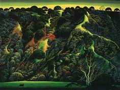 Gardner's Ranch, Eyvind Earle, 1991. (Not Isabella Stewart Gardner, but still fantastic.)