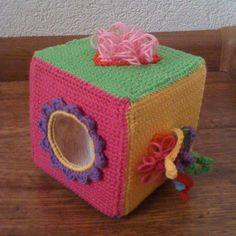 Rammelende speel voel leer kubus
