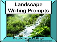 Price $3.00 Landscape Writing Prompts is a collection of the natural environement. Encourage your students to write about scenes with photograph visuals and key words prompts. This SmartBoard, white board with adobe reader access, and projector resource offers...suggestions to the teacher,an evaluation link,Common Core Standardsand 26 visuals with writing prompts.This collection aligns with Writing Common Core State Standards for students 3-5.