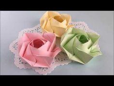 【折り紙】『トーヨー花のおりがみ』のバラを折ってみた - YouTube