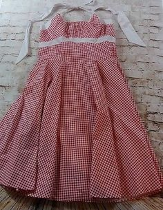 PinUp-Couture-Red-amp-White-Gingham-Daisy-Dress-Plus-Size-2X-EUC-VLV-Retro-XL-PUG