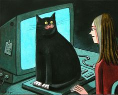 By Franco Matticchio, Cat on mac.