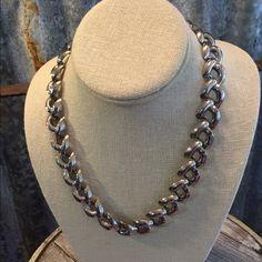 """Vintage Silver Tone Necklace Vintage Silver Tone  Necklace in good condition. Necklace is 18"""". Thanks for looking.❤️❤️❤️ Vintage Jewelry Necklaces"""