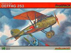 The Eduard Albatros D.III OEFFAG 253 in 1/48 scale from the plastic aircraft model range accurately recreates the real life German biplane fighter aircraft flown during World War I. This plastic aircraft kit requires paint and glue to complete.