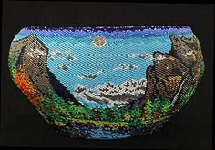 Re: Yosemite Valley beaded basket by Paiute - Shoshone Rebecca Eagle-Lambert