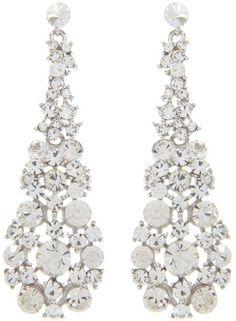 Gemini Gray Drop Earring Made with Swarovski Crystal