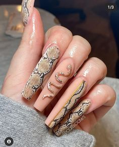 Transfer Foil, Claws, Snake Skin, Nails, Instagram Posts, I Like You, Finger Nails, Ongles, Nail