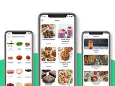 Pumpkin Spice Cookies, Oatmeal Cookies, Restaurant App, Mobile App Templates, Ingredient Search, Food Categories, Recipe Details, Food Lists, Mexican Food Recipes