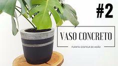 vaso de cimento - YouTube