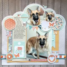 Ideas for Scrapbookers: Three Pet Pages Using Same Collection and Free Cutting Files