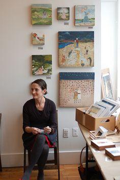 Amanda Blake in her studio    #artist  #artistatwork  #studio