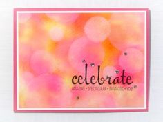 Watercolor Bokeh Tutorial - Splitcoaststampers. LC: This technique uses ink instead of watercolor. That said, I love the look. Reviewers talked about how much fun they had playing with it.