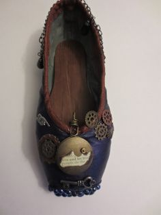 Now I know what to do with my old pointe shoes!   SteamPunk Decorated Pointe Shoe by PavlovasDogs on Etsy, $38.00