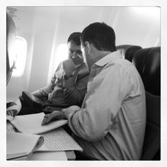 Doug & Bill strategizing on the plane! #neocon13 #neoconography #kitweets