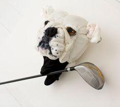 Golf club head cover ,Custom DOG portrait , golf accessories ,golfer gift