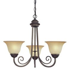 Westinghouse 3-Light Ebony Bronze Interior Chandelier with Aged Alabaster Glass-6658700 at The Home Depot