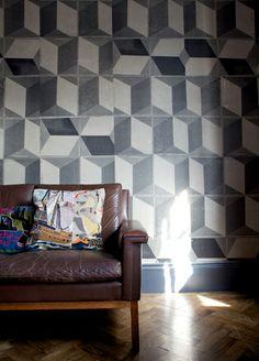 Tiles D wallpaper from Deborah Bowness