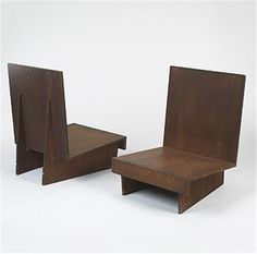 Frank Lloyd Wright; Redwood Plywood Lounge Chairs for the Sweeton House, 1951.
