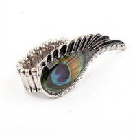 Peacock Wing Fashion Statement Ring | LilyFair Jewelry