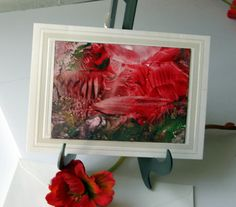 Original Art Card painted with Beeswax Red by StudioSabine on Etsy, $20.00