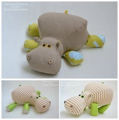 ~ Cute..big butt (*^︹^*) Template & Tutorial - Behemoth stuffed toy by Olga Almuhametova - livemaster ru