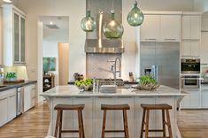 Wonderful Modern Kitchen Reshaping Design Through Lighting: Cozy Luxury Home by Cornerstone Architects
