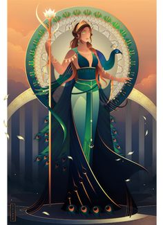 Egyptian Gods and Goddesses - Oracle Deck by Yliade on DeviantArt Hera Goddess, Greek Goddess Art, Greek Goddess Tattoo, Moon Goddess, Greek And Roman Mythology, Greek Gods And Goddesses, Tattoo Deus, Dibujos Percy Jackson, 5 Anime