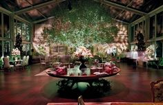 OMG I love this tree and the tent floors and walls are perfect. Photo: Eventstar Structures